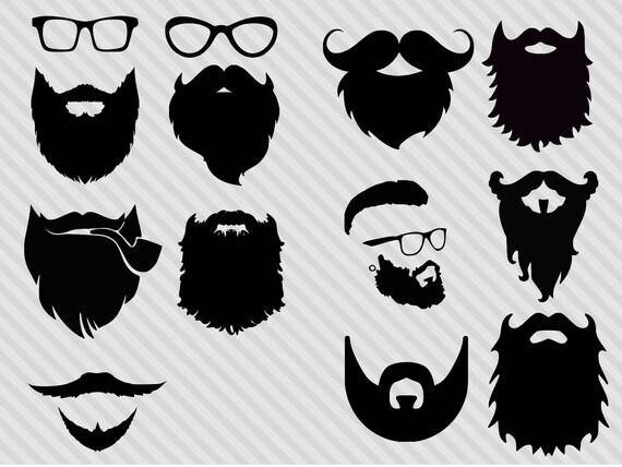 Beard svg bundlehipster svg bundle beard clipart beard | Etsy