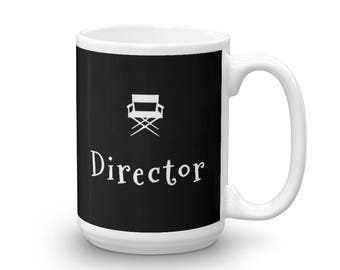 Film Director Coffee or Tea Mug Gift for Movie Lovers and Film Buffs