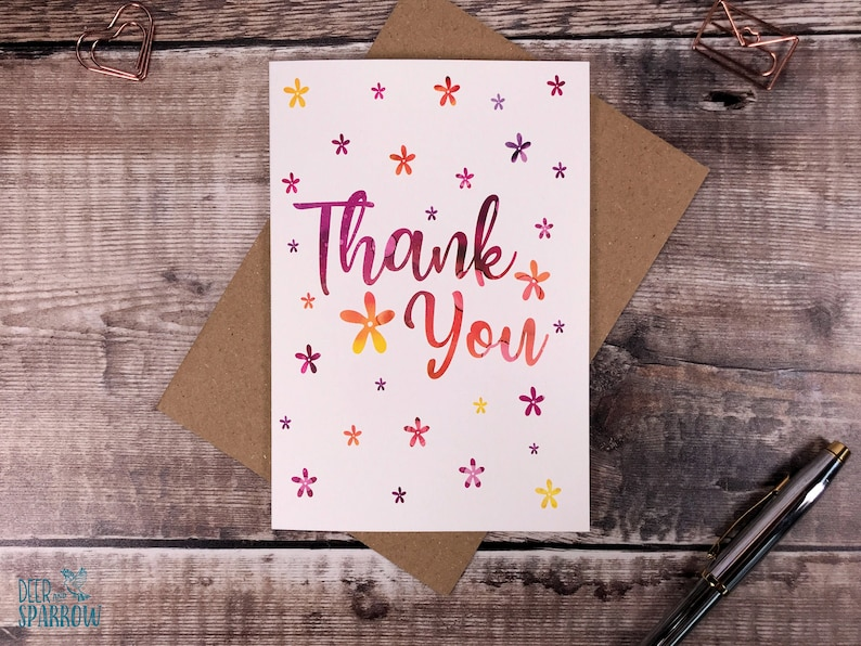 Thank You Card Pack Gift Thank You Card, Floral Thank You Card Thank You Note lets Lockdown Thank you card Wedding Thank You Card