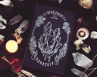 "Worship Yourself - 8.5"" x 5.5"" Print"