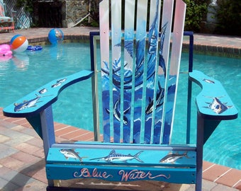 Painted Adirondack Chair - Blue Marlin