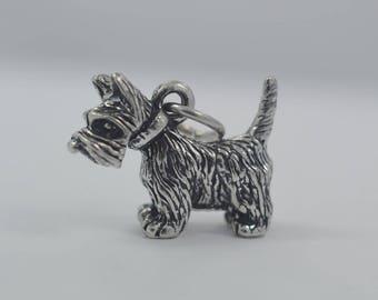 e23ef9318 Vintage Adorable Sterling Silver Scottie Dog Scottish Terrier Charm 4.16  Grams