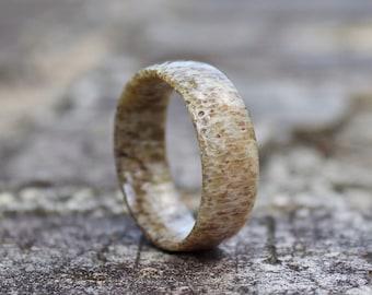 FREE Shipping, Antler Ring, Mens Antler Ring, Antler Wedding Band, Mens Wedding Band, Mens Wooden Ring, Wedding Band, Wood Ring, Antler Band