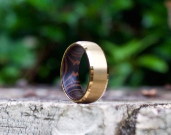 Wood Wedding Band Etsy