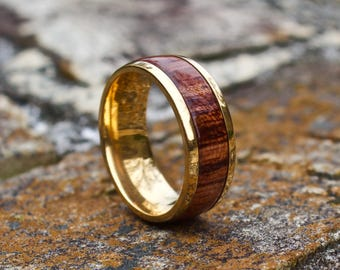 FREE Shipping, Wood Ring, Wood Wedding Band, Mens Wooden Band, Wooden Ring, Mens Ring, Wedding Band, Wooden Band, Rose Wood Ring, Wood Band