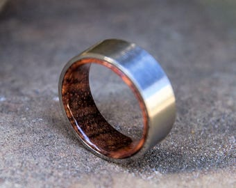 FREE Shipping, Wood Ring, Mens Wood Ring, Wood Wedding Band, Koa Wood Ring, Mens Wedding Band, Wooden Ring, Mens Wooden Ring, Wedding Band