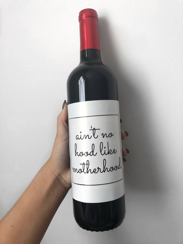 Ist nicht ohne Kapuze wie Mutterschaft Wein Etiketten lustig | Etsy