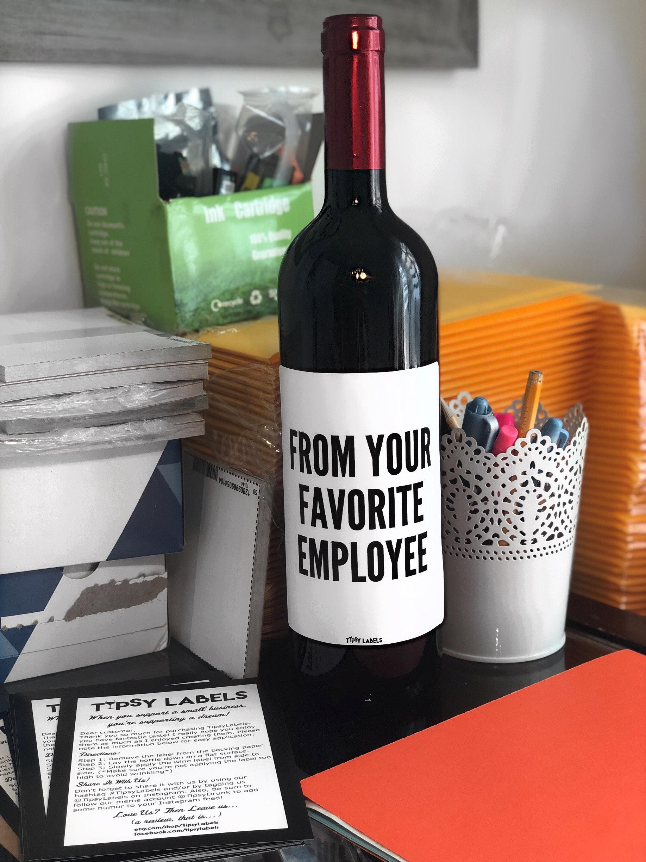 Aus Ihren Lieblings-Mitarbeiter-Wein-Etikette lustig Wein | Etsy