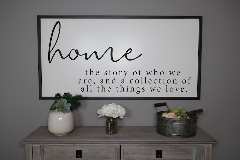 Home The Story Of Who We Are Sign Framed Wood Signs Etsy