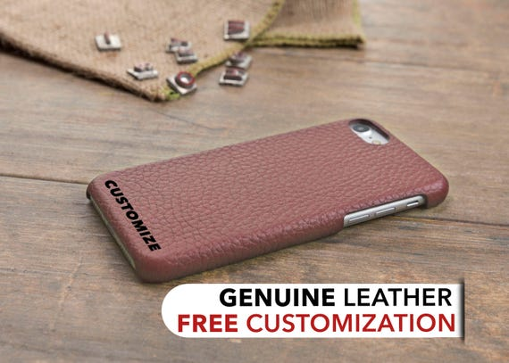Iphone 8 Case Leather Iphone 7 Case Rose Color Personalized Etsy