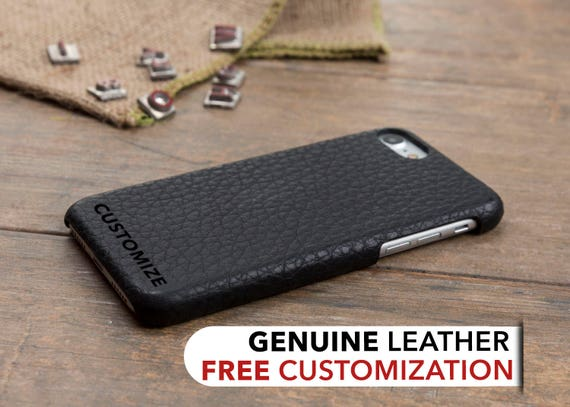 Iphone 8 Case Leather Iphone 7 Case Black Personalized Etsy