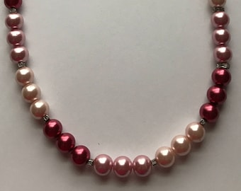 Necklace - 3 shades of Pink