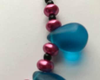 Necklace - Big Blue Drops