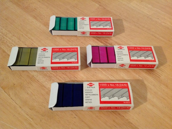 farbige Heftklammern 24//6 gr/ün 800 St/ück