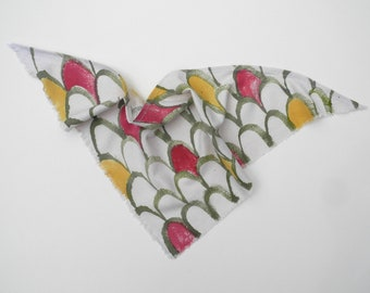 Protea Raw Silk Scarf - Hand Painted Hand Dyed Raw Silk - French Scarf - Bridesmaid Gift - Wrist Scarf - Kerchief