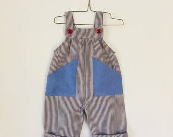 Baby Linen Overalls - Made to Order