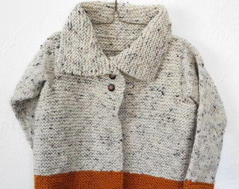 MADE TO ORDER - Children's Hand Knit Sweater - Acrylic Yarn - Kids Knitwear - Unisex Toddler Cardigan