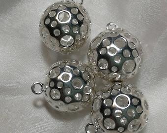 XL mirror laser cut acrylic 2 pcs pendants charms Large Blue Skull and Crossbones