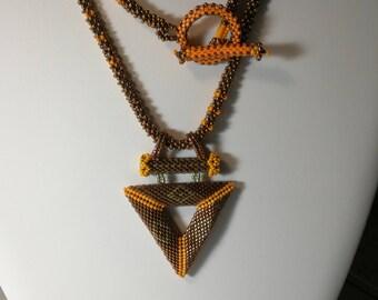 unique triangle necklace