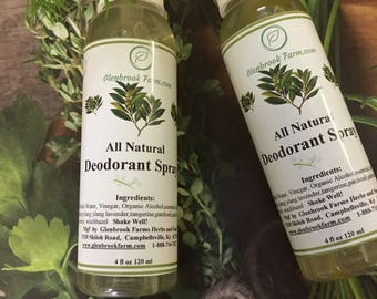 All Natural Spray Deodorant, made with pure essential oils,Aluminum-free and Paraben-free, Phthalate-Free