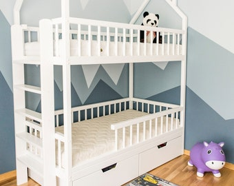 Hand Made Children Beds Loft Beds And Bunk By Belovedtreehouseshop