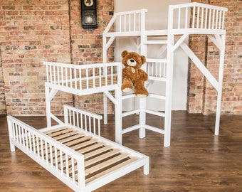 Bunk Bed For Kids Loft Bed Playhouse Bunk Bed Kids Etsy