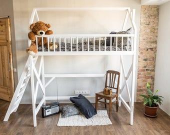 Loft, Bett, Etagenbett, Inn, Kindermöbel, Spielhaus, Baum Haus, Kinderbett,  Etagenbett Für Kinder, Spielhaus, Bettrahmen, Kindermöbel