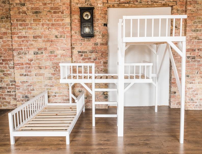 Etagenbett Kleinkinder : Stockbett kinderbett etagenbett für kinder möbel etsy