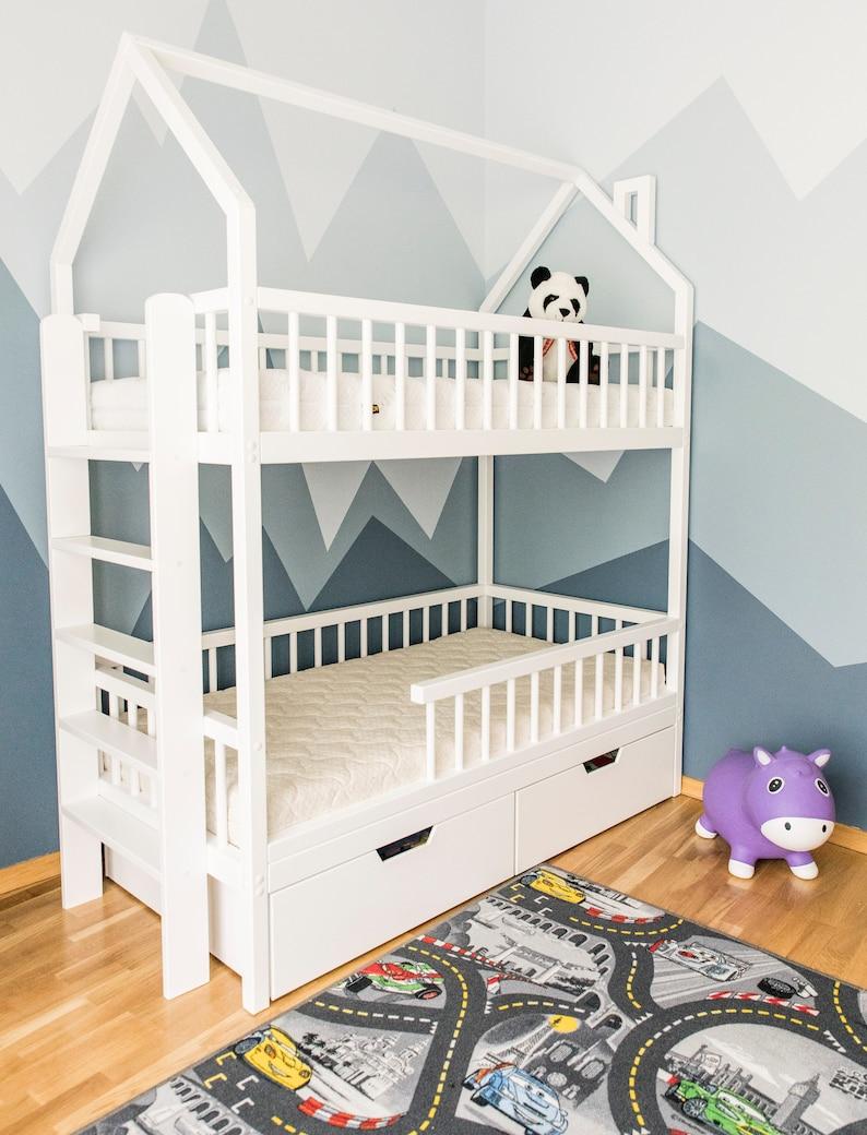 Bedden Voor Kids.Stapelbedden Kids Bedden Kinderen Bed Peuter Bed Loft Bed Etsy
