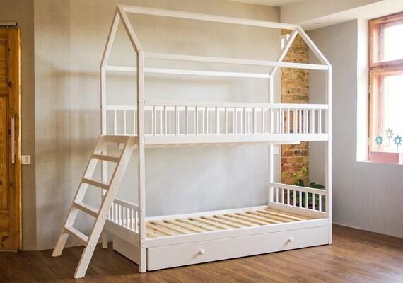 Etagenbett Kinderbetten Kinderbett Kinderbett Hochbett | Etsy