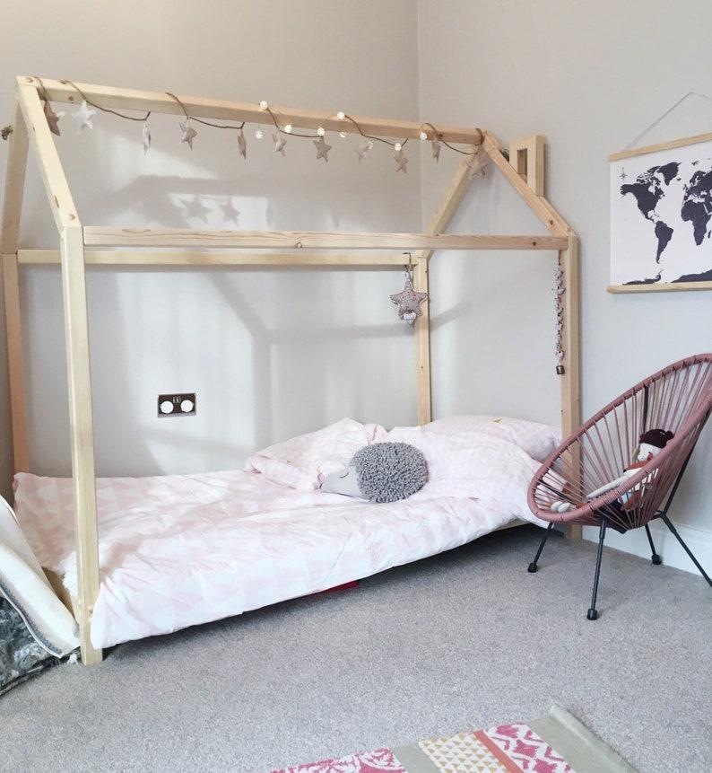 Peuterbed Comming Kids.Montessori Bed Kids Bedden Peuter Bed Childrens Bedden Etsy