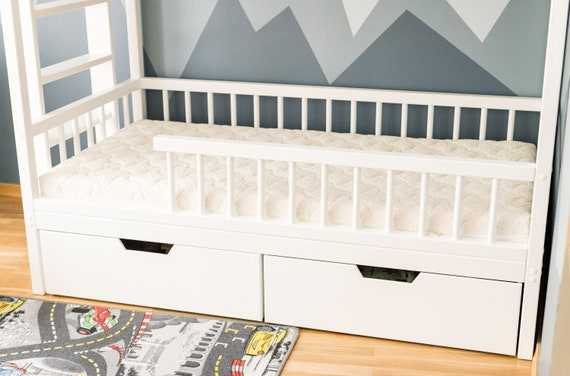Bed Storage Trundle Bed Kids Bed Drawers Trundle Drawer Etsy