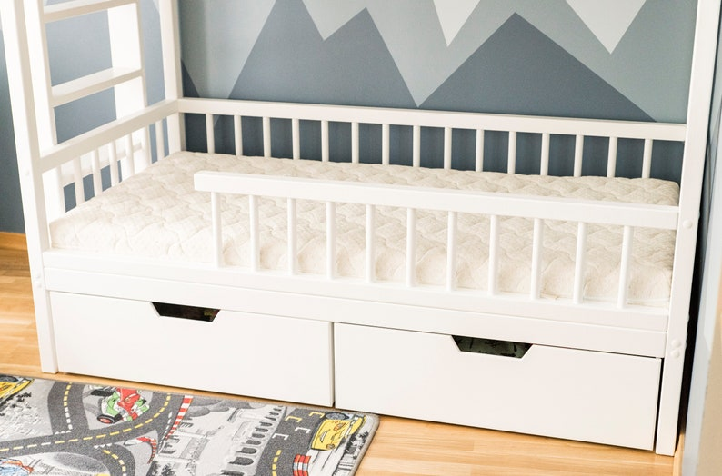 Bed Storage Trundle Bed Kids Bed Drawers Trundle Drawer | Etsy
