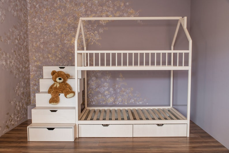 Bunk Beds Kids Beds Children Bed Toddler Bed Loft Bed Etsy