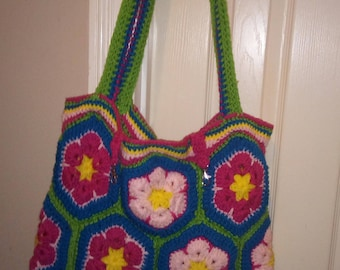 Crochet Hexagon Bag Etsy