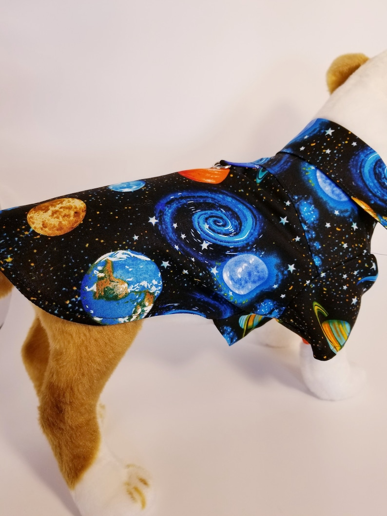 d75f3dc0a4309 Outer Space Dress Shirt for Dogs / Dog Clothes