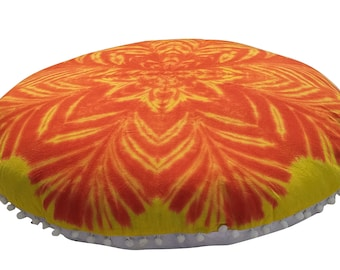 New 32 Round Yin Yang Multi Tie Dye Cushion Cover Christmas Decor Floor Decorative Pillow Covers New Floor Cushion Pillow Covers