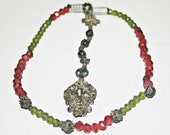 Antique 18th Century Bavarian Cannetille Rosary with Hand Faceted Glass Beads