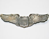 WWII Sterling Pilot Wings Badge