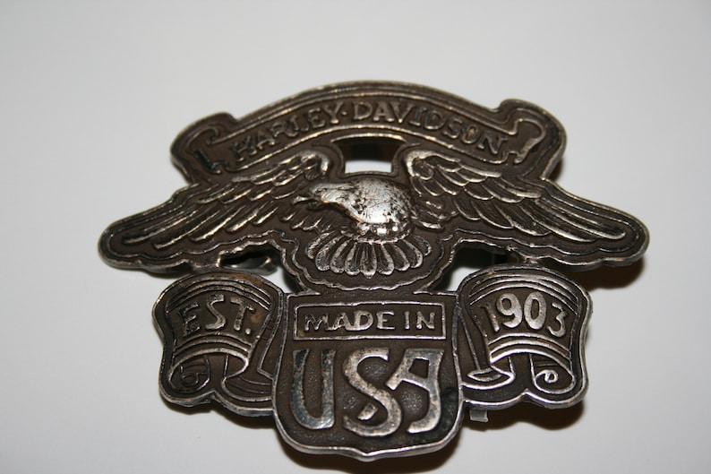 ed37b6c8341 Boucle de ceinture Harley Davidson rare énorme collection