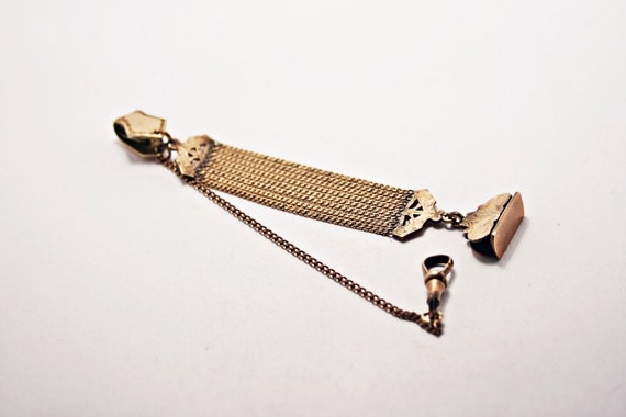 c1900s Antique Edwardian Gold Filled Watch Fob