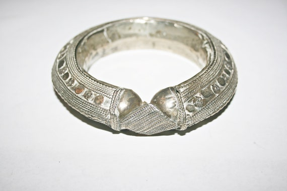 Vintage Repousse Storybook Musicians Wide Silver Plated Cuff Bracelet Danish Silver Cuff