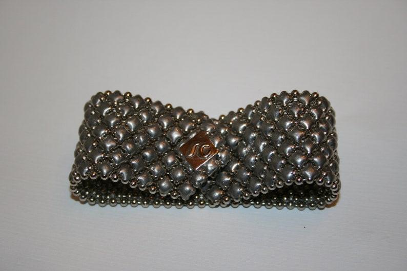 d389b80f9f0 Sergio Gutierrez Liquid Metal Bracelet Mesh Designer Signed   Etsy