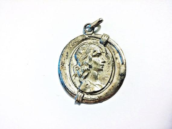 Antique Art Nouveau Pendant - image 1