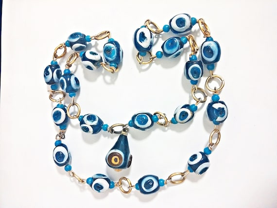 "30"" Handmade Evil Eye Necklace"