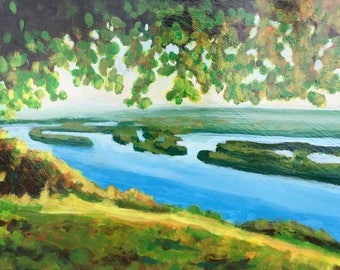 Over the Mississippi Original Acrylic Painting