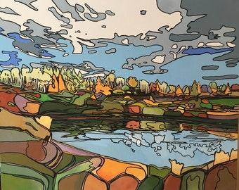 The Bog, Original Acrylic Painting on Canvas