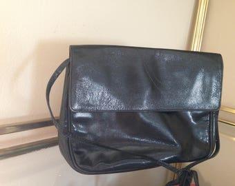 185fa8f147 Vintage Desmo italian black leather purse