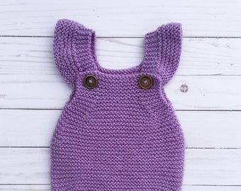 b9fe4cb81 Knitting PATTERN Cable Knitted Baby Romper Creepers Crawler One ...