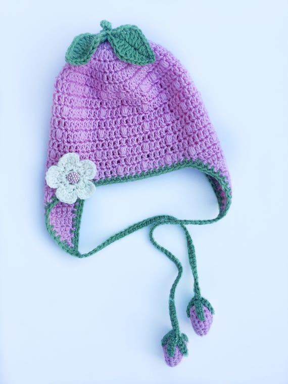 7fc15a6713c5 Chapeau fraise. Chapeau rose enfant en bas âge. Chapeau enfant   Etsy